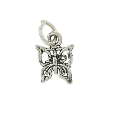 Silver Tiny Butterfly Charm Or Pendant