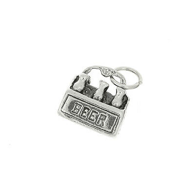 Sterling Silver 6 Pack Of Beer Charm Or Pendant