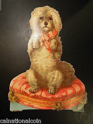 A. Hoefner Crystal Soap Dog Vintage Cardstock Advertising Placque