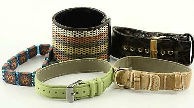 Vintage Costume Jewelry 5 PC Mixed Variety Lot Watch Bands & Bracelets