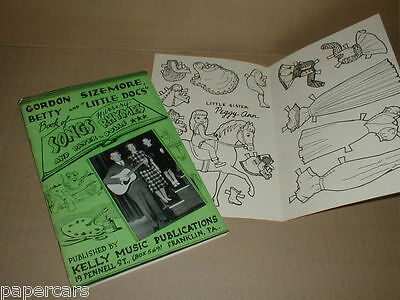 Vintage 1948 Gordon Sizemore Owsley County KY Radio song Rare Paper Doll book