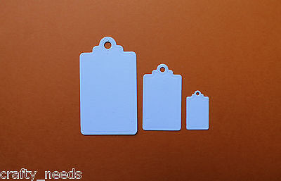 10 PC - Swing TAGS  3 Size Paper Die Cuts Embellishments Scrapbooking