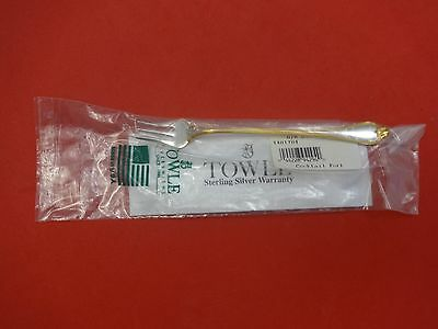 "Old Newbury Gold by Towle Sterling Silver Cocktail Fork 5 3/4"" New"