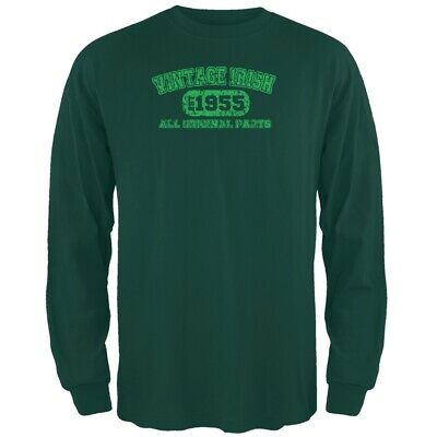 St. Patricks Day - Vintage Irish 1955 Forest Green Long Sleeve T-Shirt