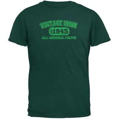 St. Patricks Day - Vintage Irish 1945 Forest Green Adult T-Shirt