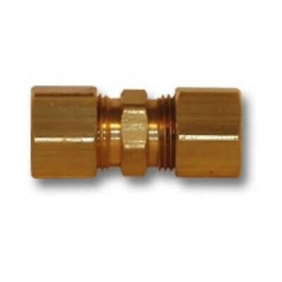 1/8 inch OD Brass Compression union coupling soft copper Pipe Fitting NPT water