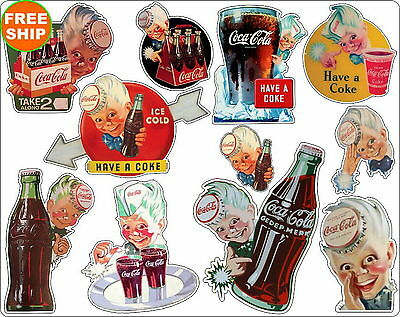 Coca Cola Vintage Sprite Boy 11 Decal Sheet Retro Coke Soda Pop FREE SHIPPING 5