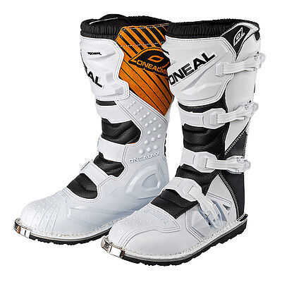 ONeal Rider Adult Mens 2015 MX Motocross Off Road Boots White UK 10
