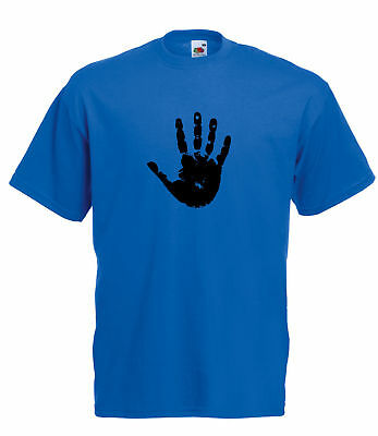 Detailed Hand Print Design Graphic High Quality 100% Cotton Short Sleeve T-Shirt