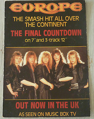 Carte Postale Postcard - EUROPE - The Final Countdown -
