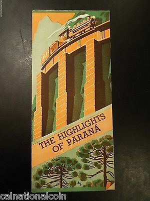 The Highlights of Parana, Brazil Vintage Tourist Brochure