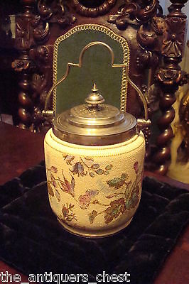 Antique 1868-1898 Taylor, Tunnicliffe, & Co England  Biscuit Jar Silver Plated