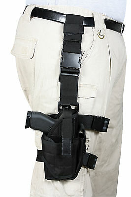 Rothco Deluxe Adjustable Universal Drop Leg Tactical Holster, BLACK Right