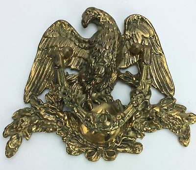 Vintage Solid BRASS American Eagle Figural DOOR KNOCKER Victorian Edwardian