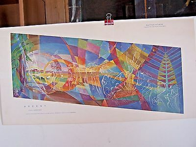 "Lumen Martin Winter Print - Lost Mural - ""Ascent""  - 28 x 14 in With NewsArticle"