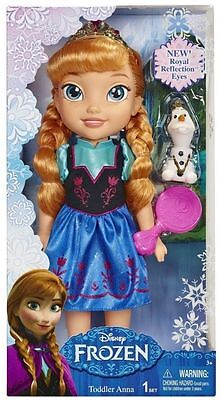 DISNEY FROZEN 14 INCH PRINCESS TODDLER ANNA DOLL WITH  NEW ROYAL REFLECTION EYES