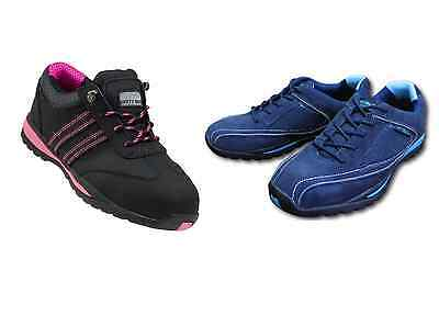 NEW Womens SAFETY TRAINERS SHOES BOOTS WORK STEEL TOE CAP ANKLE SIZE 4-13UK