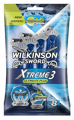 Wilkinson Sword Xtreme 3 Ultimate Plus Disposable Razors - 8 Pack