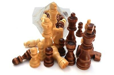 CHESS - Set Of 32 Wooden Parts,Pieces - king size 7.5cm
