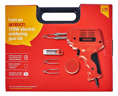 175 Watt Electric Soldering Solder Gun Kit Automatic Light Home Diy Hobbyist