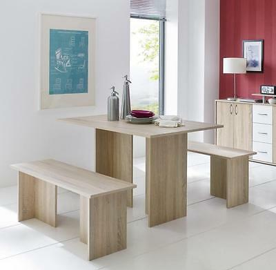 vicco tischgruppe eiche sonoma sitzgruppe essgruppe. Black Bedroom Furniture Sets. Home Design Ideas