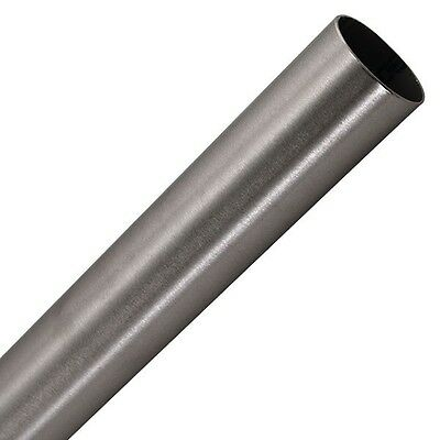 """1 1/2"""" brushed 304 stainless steel tube 16 ga. wall 1.5mm 19'6 long"""