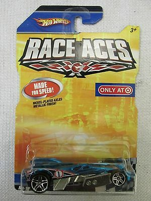 Rare 2008/2009 RACE ACES Hot Wheels RD-10 variant vhtf Blue ~Target Excl