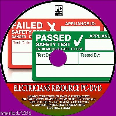 Electricians Resource 17Th Edition Training Pat & Electrical H&s New Pc Dvd-Rom