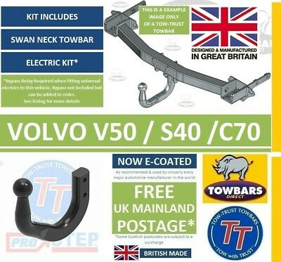 Swan Neck Towbar for Volvo S40 & V50 2004on & C70 Coupe Cabrio 2006on Tow-Trust
