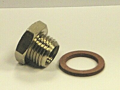 Bspp Male to NPT Female Brass Nickel Plated Reducing Bushes & Fibre Washer