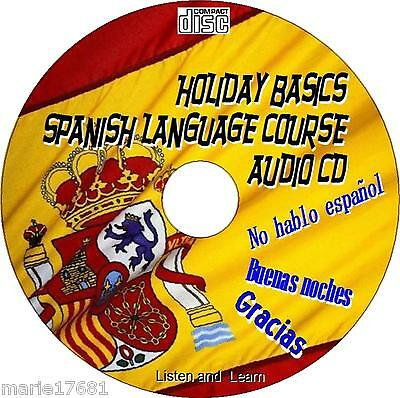 Holiday Spanish Language Easy Use Listen & Learn Course Car Home Work Audio Cd