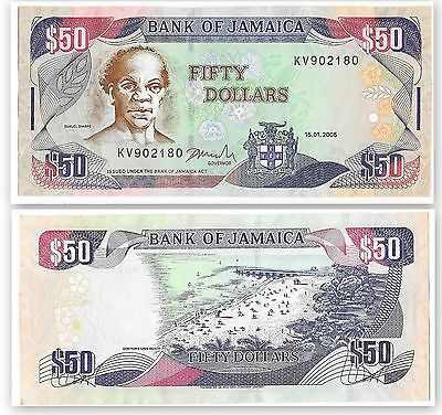 Fifty Dollar Banknote from Jamaica a 2005 Issue
