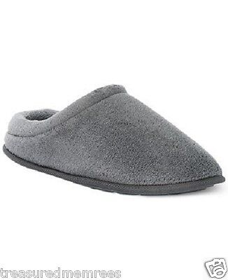 John Ashford Micro Terry Indoor/Outdoor Slippers ~ Size XXL (13) ~ Gray ~ NWT