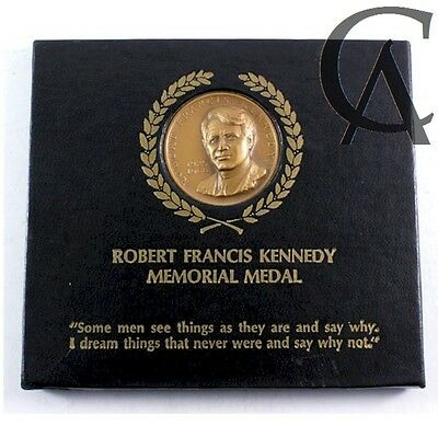 1925-1968 Robert Francis Kennedy UHR Memorial Bronze Medallion