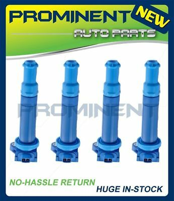 Set of 4 Blue High Performance Ignition Coil For Hyundai Kia 1.6L UF499 C1543