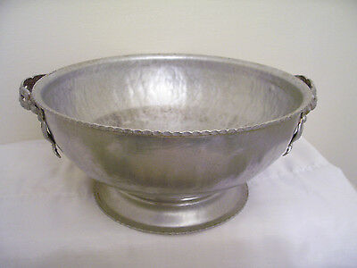 Rodney Kent Hand Wrought Creation Aluminum Hammered Bowl with Handles #415