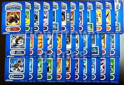 SKYLANDERS Spyro's Adventure STICKER SHEETS choose from 38 different characters!
