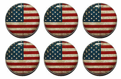 American US Flag Fridge Magnets - Clean or Vintage Style - 25mm - High Quality