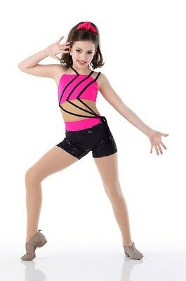 JAZZED Mesh Middle UNITARD Acro Tap Hip Hop Dance Costume Child & Adult Size New