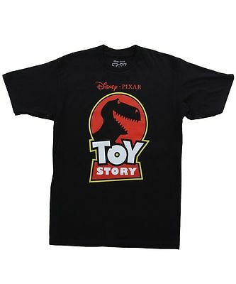 Toy Story Red Logo Crew Jurassic Park Parody Pixar Animation Black T Shirt S-3Xl