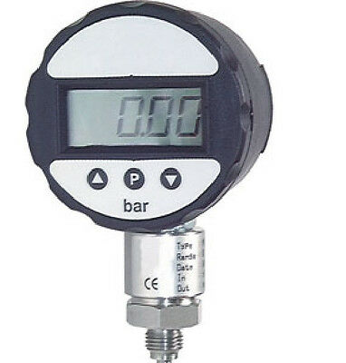 Digital Stainless Steel Manometer 0/10 Bar with Battery - class 0,5