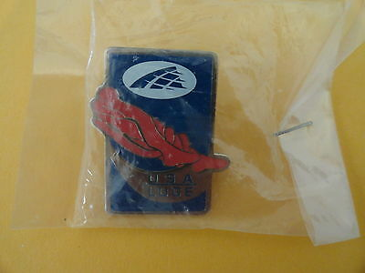 Olympic  Winter Olympics USA Luge Metal Clutch back Sponsor Pin