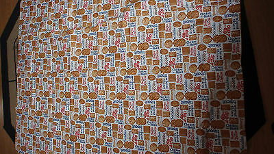Nabisco Crackers Advertising Vinyl Flannel Backed Tablecloth 52 X 70