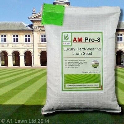 A1 Lawn Am Pro-8 Luxury Hard-Wearing Lawn Booster Germination Grass Seed