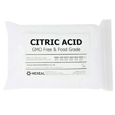 CITRIC ACID | 1KG BAG | 100% Anhydrous | BP/Food Grade | Additive, Bath, Brew