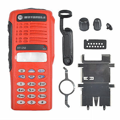 Red Replacement Repair Full-keypad Case Housing For Motorola HT1250 Radios