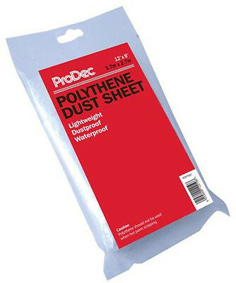 ProDec 12ft x 9ft Polythene Dust Sheet 3.6m x 2.7m Decorators Cover (PDPY001)