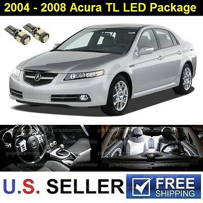 2004-2008 Acura TL LED SMD Lights Full Package Deal Kit 9 Pieces Xenon White