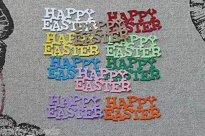 10PC - Happy Easter  Die Cuts Toppers, Scrapbooking
