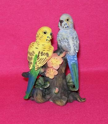 Wholesale Lot 6 Pieces BUDGIES ON BRANCH figurine Budgerigars